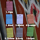 アメリカンなカラープライスカード [Sサイズ] 1000枚セット 全7色 ミシン目付きプライスタグ 色付きショップ用値札 店舗用値下げ札 文房具 雑貨 オクタニ I57